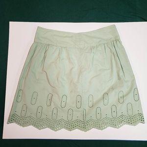 ANN TAYLOR LOFT Sea foam green skirt